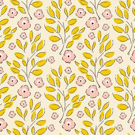 Tricoline Estampado Rose Cotton, 100% Algodão, Unid. 50cm x 1,50mt