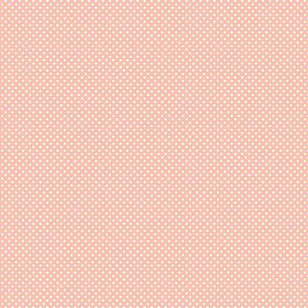 Tricoline Estampado Micro Poá Rosa Cotton, 100% Algodão, Unid. 50cm x 1,50mt