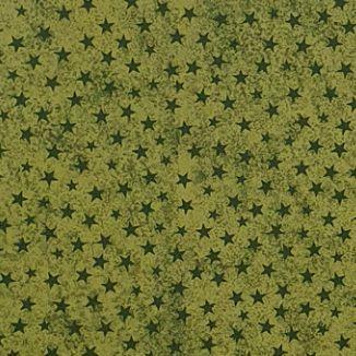 Tricoline Estampado Estrelinhas Verde - 100% Algodão, Unid. 50cm x 1,50mt