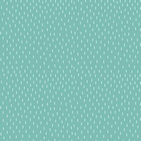 Tricoline Estampado Chuva Azul Nuvem, 100% Algodão, Unid. 50cm x 1,50mt