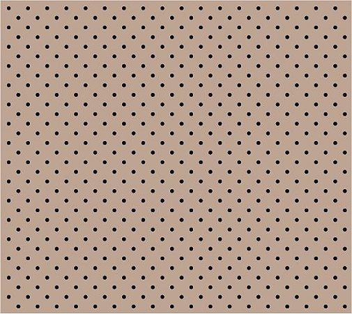 Tecido Tricoline Poá Preto Fundo Bege, 100% Algodão, Unid. 50cm x 1,50mt