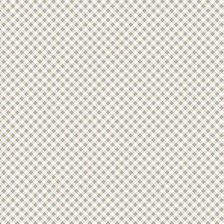 Tricoline Estampado Micro Xadrez Bege, 100% Algodão, Unid. 50cm x 1,50mt