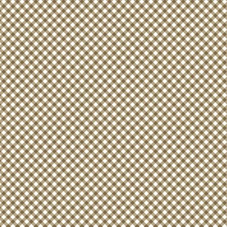 Tricoline Estampado Micro Xadrez Caramelo, 100% Algodão, Unid. 50cm x 1,50mt