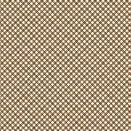 Tricoline Estampado Micro Xadrez Marrom, 100% Algodão, Unid. 50cm x 1,50mt