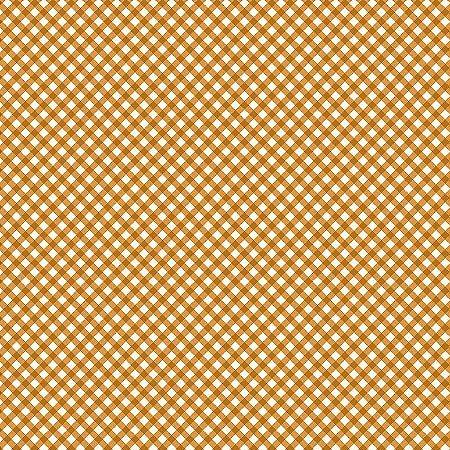 Tricoline Estampado Micro Xadrez Laranja, 100% Algodão, Unid. 50cm x 1,50mt