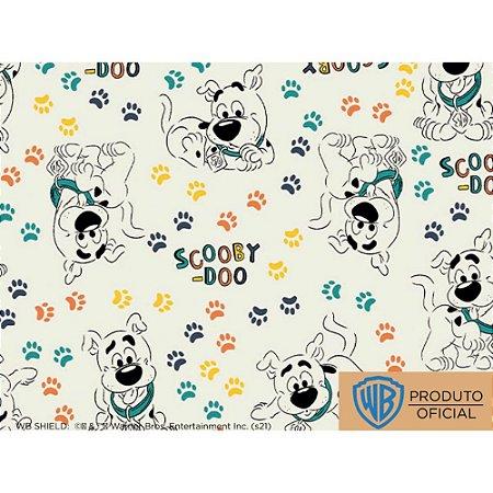 Tricoline Personagem Scooby Doo Patinhas Fundo Claro, 100% Algodão, Unid. 50cm x 1,50mt