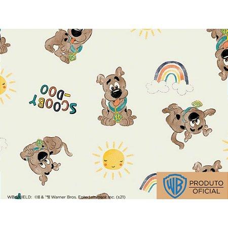 Tricoline Personagem Scooby Doo Sol Fundo Claro, 100% Algodão, Unid. 50cm x 1,50mt