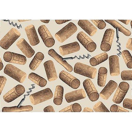 Tecido Tricoline Rolhas, 100% Algodão, Unid. 50cm x 1,50mt
