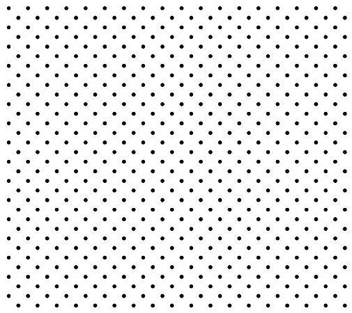 Tricoline Poá Pequeno (Preto Fundo Branco), 100% Algodão, Unid. 50cm x 1,50mt