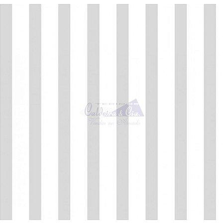 Tricoline Listrado Smart - Cor-14 (Cinza) , 100% Algodão, Unid. 50cm x 1,50mt