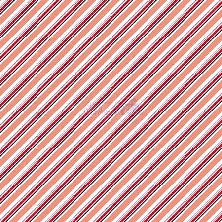 Tricoline Listrado Diagonal Bianca - Cor-09 (Vermelho) , 100% Algodão, Unid. 50cm x 1,50mt