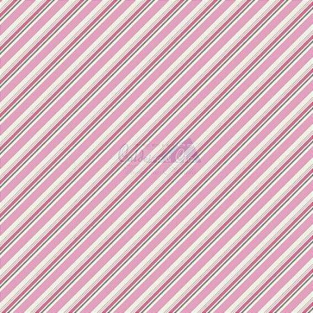 Tricoline Listrado Diagonal Bianca - Cor-04 (Cinza com Rosa) , 100% Algodão, Unid. 50cm x 1,50mt