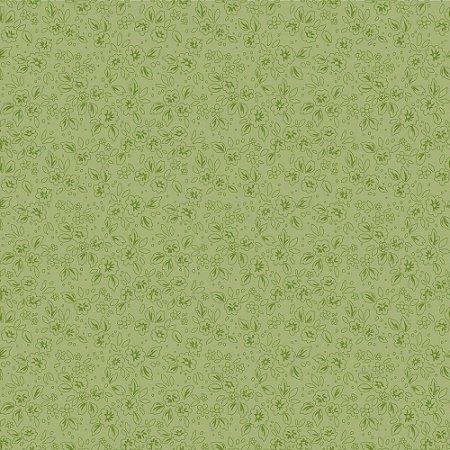 Tecido Tricoline Contornos Grama, 100%Algodão, 50cm x 1,50mt