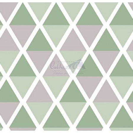 Tricoline Estampado Geométrico Margot - Cor-13 (Vende com Cinza), 100% Algodão, Unid. 50cm x 1,50mt
