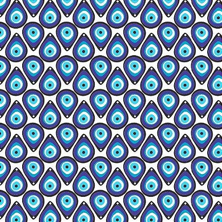 Tecido Tricoline Olho Grego, 100% Algodão, 50cm x 1,50mt