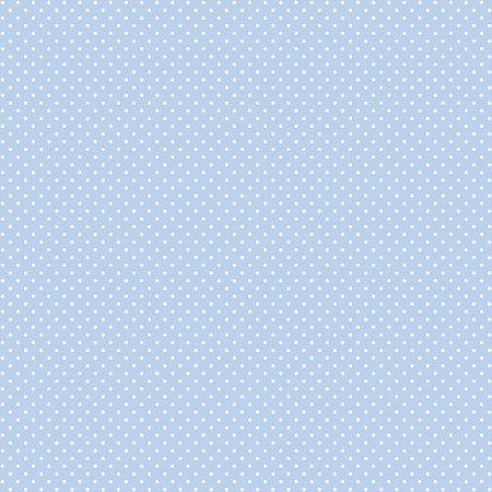 Tricoline Poá Peri Branco F. Azul BB 100%Alg, 50cm x 1,50mt