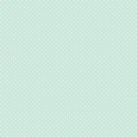 Tricoline Poá Peri Branco F. Verde BB 100%Alg, 50cm x 1,50mt