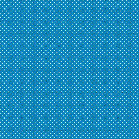 Tricoline Poá Peri Branco F. Azul 100%Alg, 50cm x 1,50mt