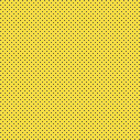 Tricoline Poá Peri Preto F. Amarelo 100%Alg, 50cm x 1,50mt