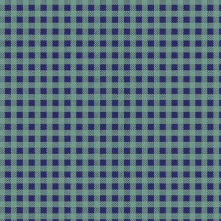 Tricoline Xadrez Peri Verde c/ Azul, 100%Alg, 50cm x 1,50mt