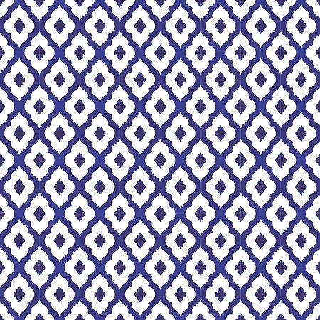 Tecido Tricoline Neutro Peri Azul, 100%Alg, 50cm x 1,50mt