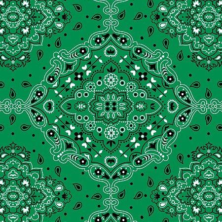 Tecido Tricoline Bandana Verde, 100%Alg, 50cm x 1,50mt