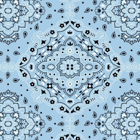 Tecido Tricoline Bandana Azul BB, 100%Alg, 50cm x 1,50mt