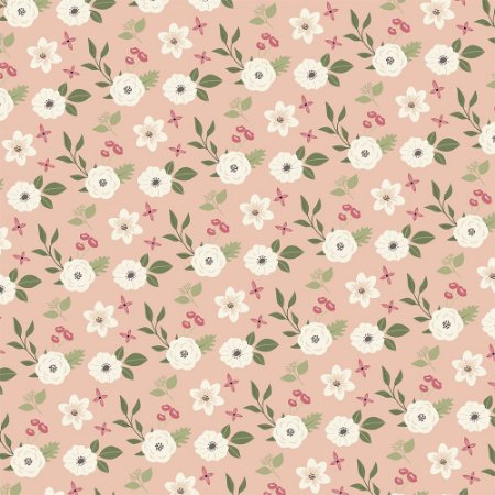 Tricoline Flores Matutinas, 100% Algodão, 50cm x 1,50mt