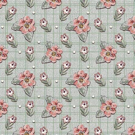Tricoline Digital Mini Floral Sweet Menta, 50cm x 1,50mt