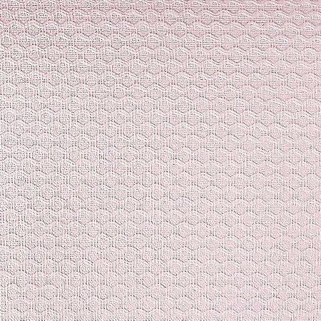 Tecido Piquet Liso Rosa Boneca, 100% Algodão, 50cm x 1,43mt