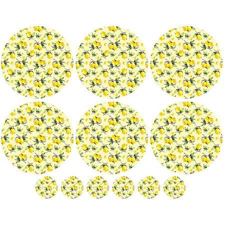 Sarja Painel Sousplat Limão, 100% Poliester, 1,20mt x 1,50mt