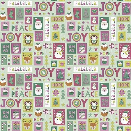 Tricoline Natal Candy Christmas 09, 100%Algod, 50cm x 1,50mt