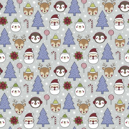 Tricoline Natal Candy Christmas 03, 100%Algod, 50cm x 1,50mt