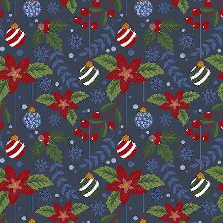 Tricoline Natal Original Christmas 04, 100%Alg, 50cm x 1,50m