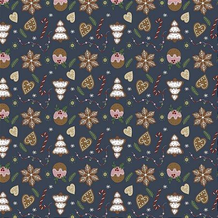 Tricoline Natal Original Christmas 03, 100%Alg, 50cm x 1,50m