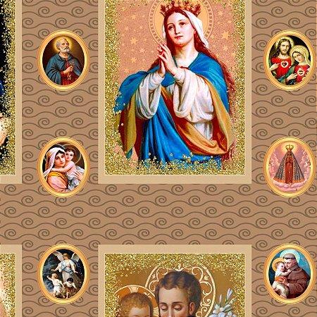 Tricoline Digital Religiosos 100% Algod, Unid. 50cm x 1,50mt