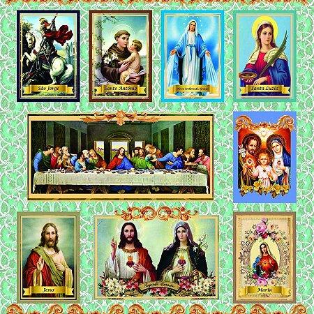 Tricoline Digital Religiosos 100% Alg, Unid. 1,45mt x 1,50mt