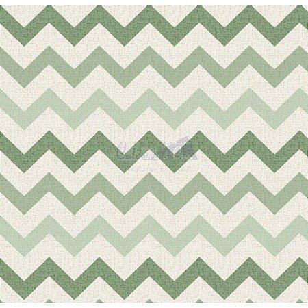 Tricoline Estampado Chevron Nara - Cor-06 (Verde), 100% Algodão, Unid. 50cm x 1,50mt