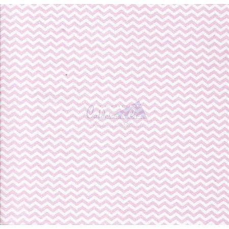 Tricoline Estampado Mini Chevron - Cor-02 (Rosa), 100% Algodão, Unid. 50cm x 1,50mt