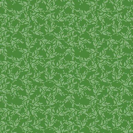 Tecido Tricoline Green Vine, 100% Algodão, 50cm x 1,50mt