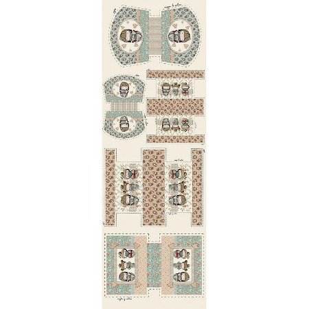 Tricoline Digital Painel Necessarie Kokeshi, 50cm x 1,50mt