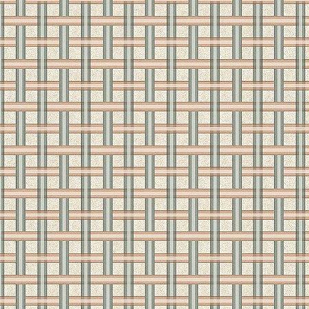 Tricoline Digital Xadrez Kokeshi, 100%Algodão, 50cm x 1,50mt