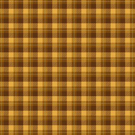 Tricoline Xadrez Glasgow Caramelo 2, 100% Alg, 50cm x 1,50mt