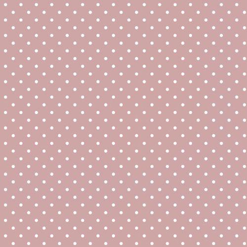 Tricoline Poá Pequeno Rose c/ Bolinha Branca 100% Algodão unid 50cm X 1,50mt