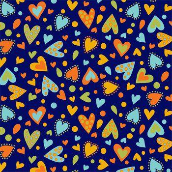 Tricoline Coração Dino Azul, 100% Algodão, Unid. 50cm x 1,50mt