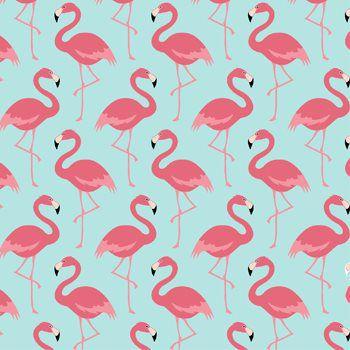 Tricoline Flamingo Azul, 100% Algodão, Unid. 50cm x 1,50mt