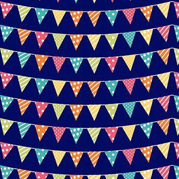 Tricoline Bandeiras festa Junina - Marinho , 100% Algodão, Unid. 50cm x 1,50mt