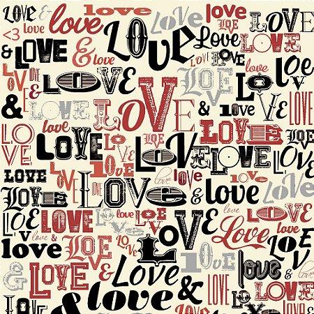 Tricoline Love Creme, 100% Algodão, Unid. 50cm x 1,50mt