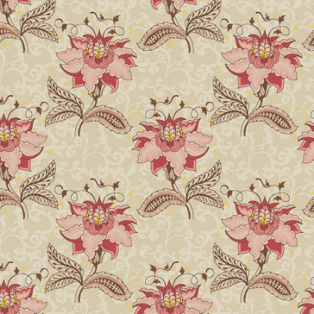 Tricoline Floral Arabesque, 100% Algodão, Unid. 50cm x 1,50mt