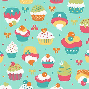 Tricoline Cupcake - Verde, 100% Algodão, Unid. 50cm x 1,50mt